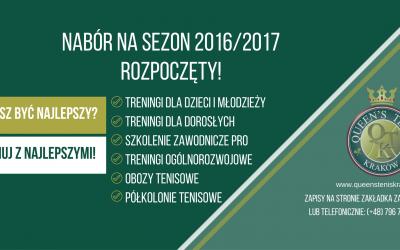 NABÓR NA SEZON 2016/2017 ROZPOCZĘTY!